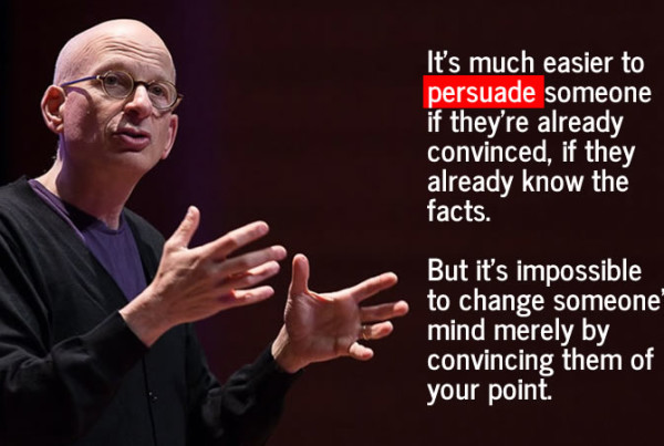 Seth Godin says to persuade, not convince
